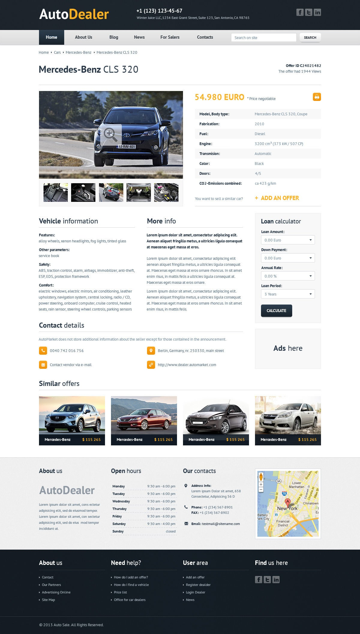 auto dealer car dealer html template1