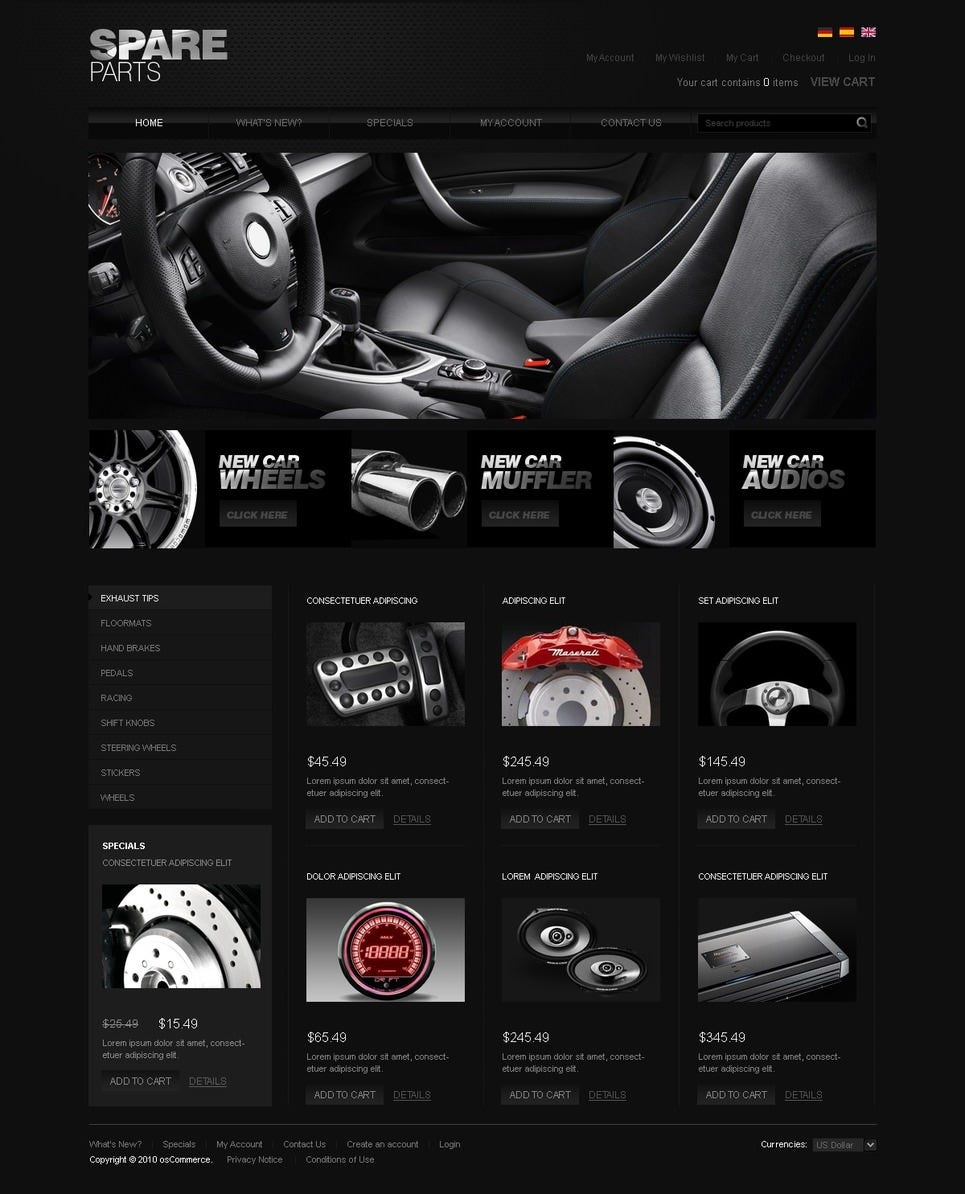 15 best premium car website templates free premium for Designer flash sale sites