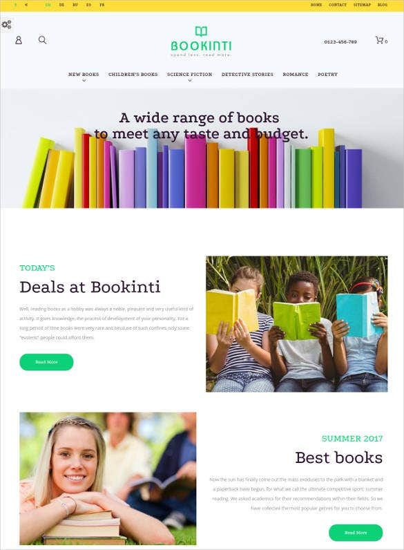 book store time prestashop website theme1