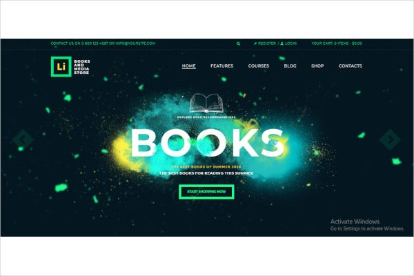 books media store wordpress theme