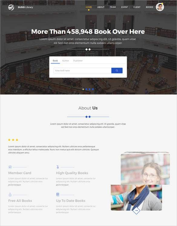 bootstrap book store website template1