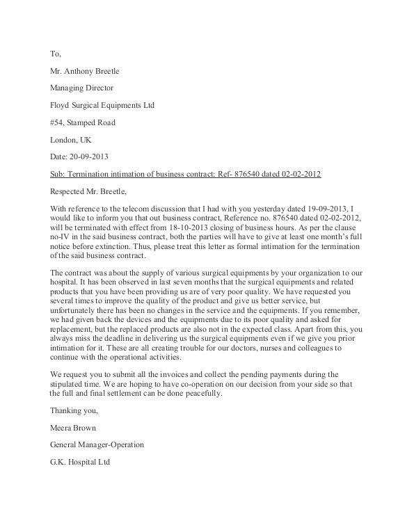 Business Contract Termination Letter Template AoMvvOvT