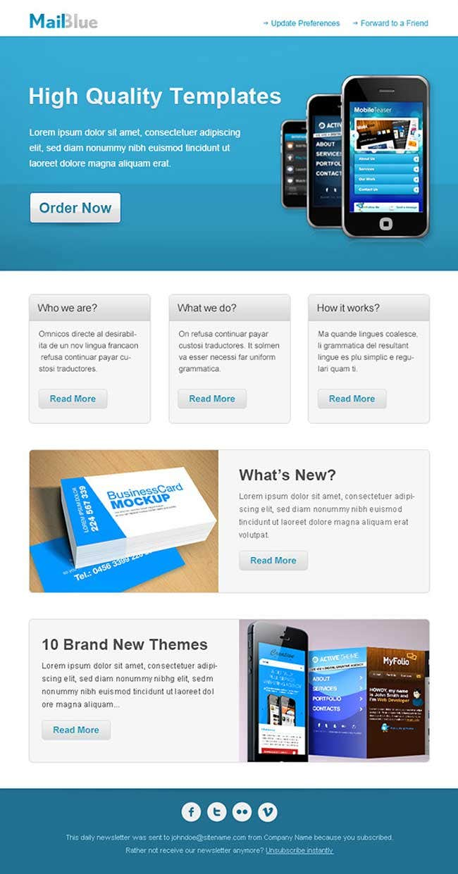 12 best free introduction business email templates free premium business email template in blue colors flashek Image collections