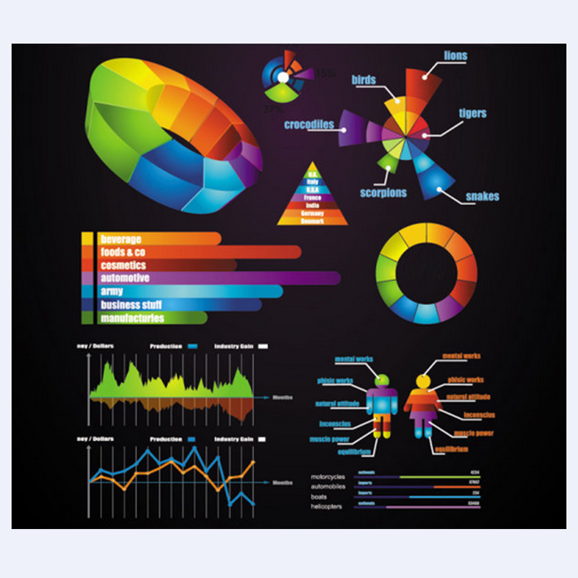 business data elements vector 02
