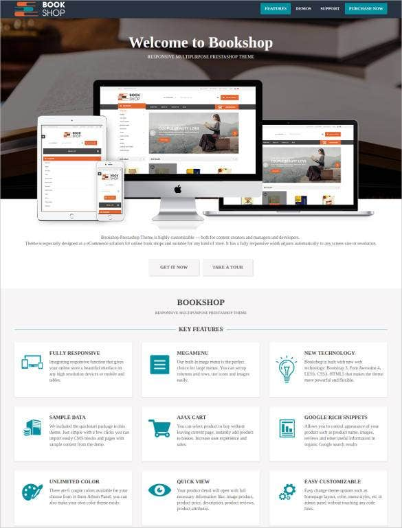 32  book store website themes  u0026 templates