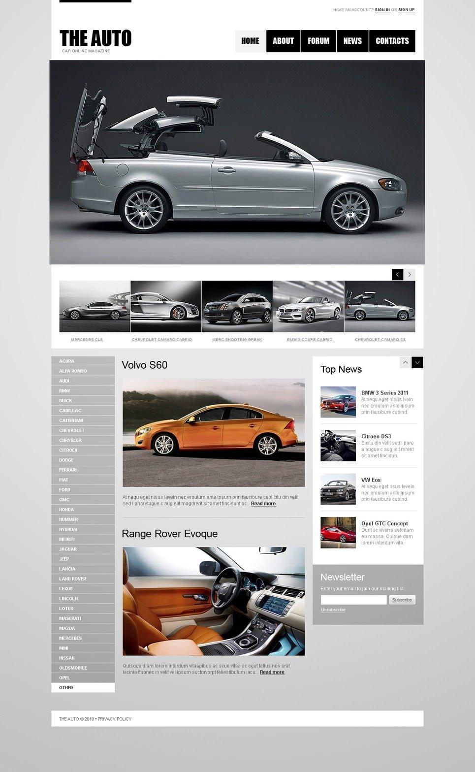 Car Club Joomla Template