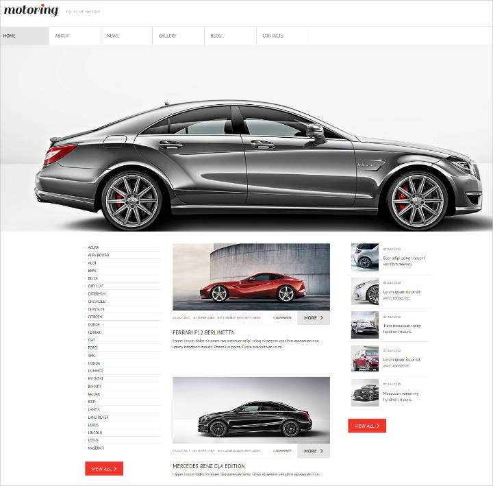 Best responsive auto car dealer websites autos post for Medlin motors wilson nc