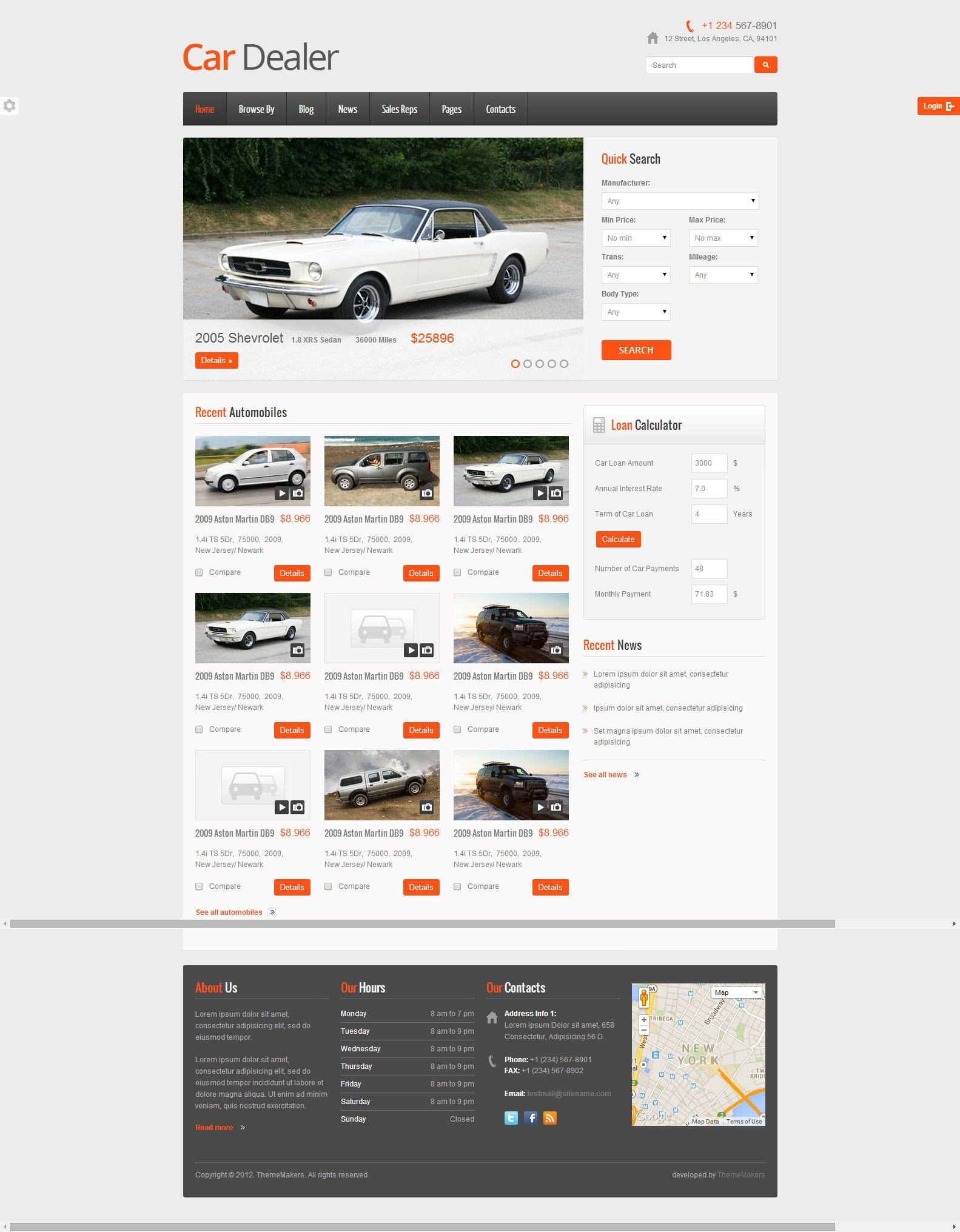 Car dealer responsive html5 css3 template