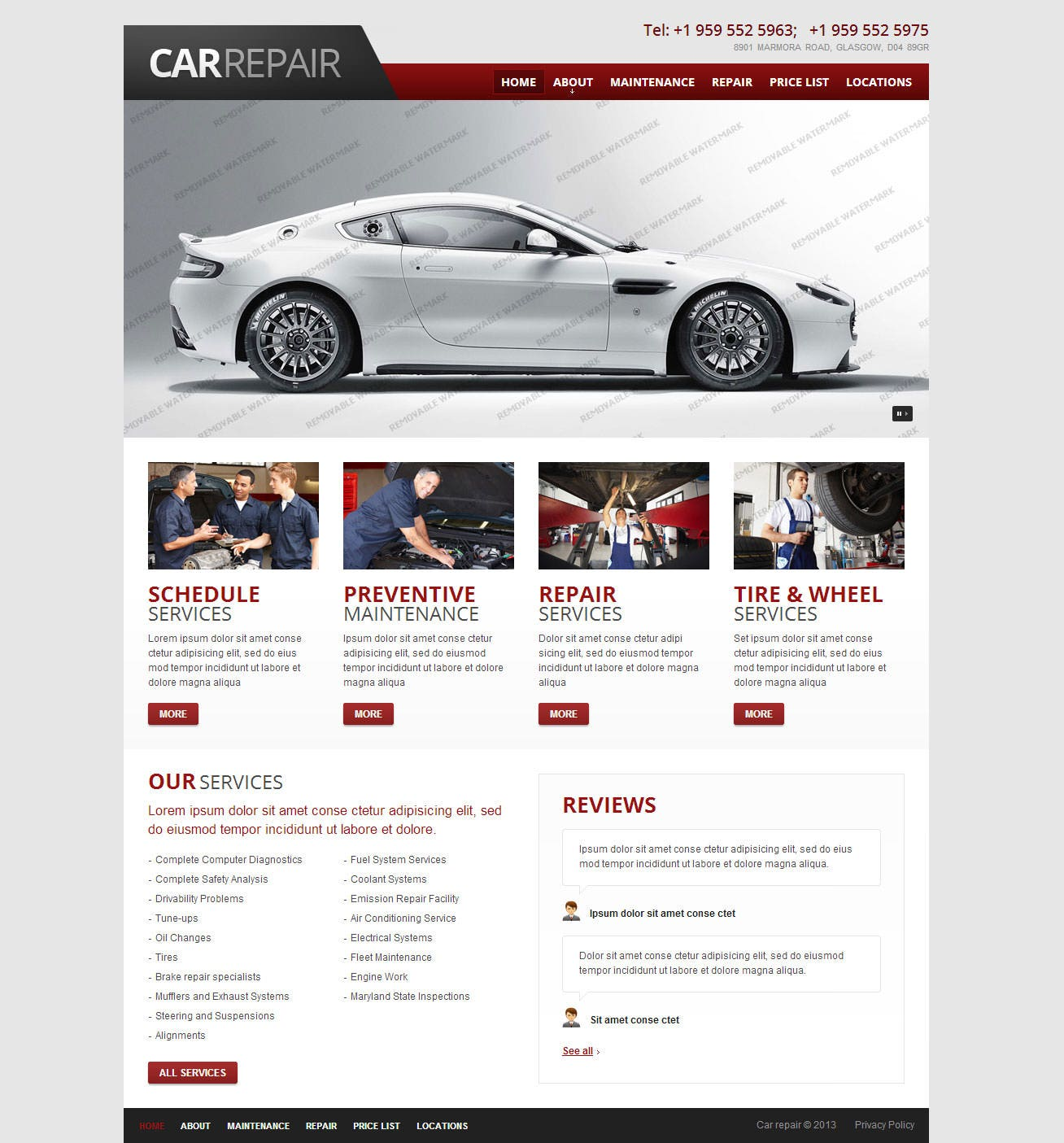 22 Best Premium Car Website Templates Free Amp Premium
