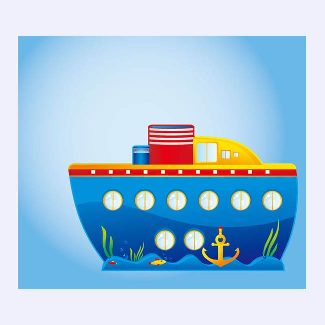 Cartoon Marine Transport Vector-2