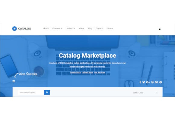 catalog buy sell marketplace responsive wordpress theme