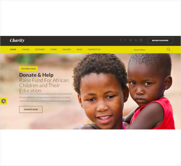 charity nonprofit fundraising html template