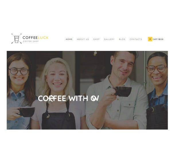 coffee restaurant shop website wordpress theme