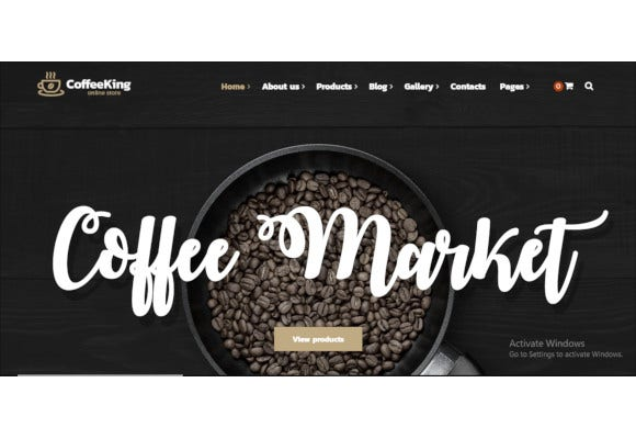 coffee shop drinks online store wordpress theme