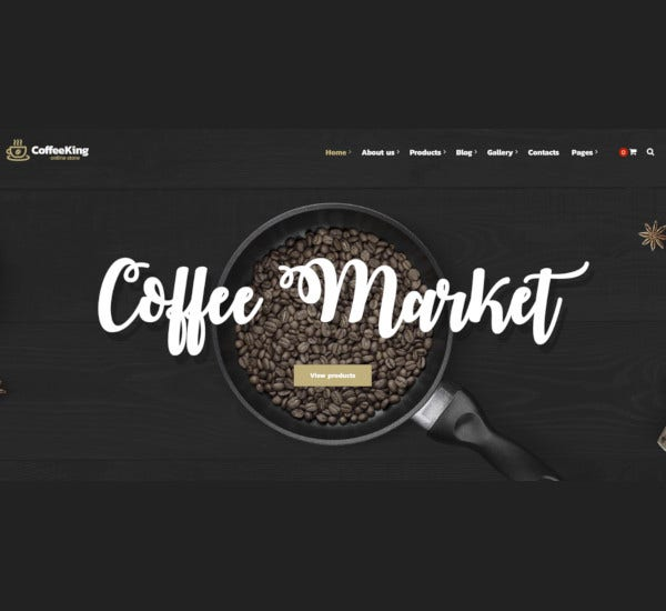 coffee shop online store wordpress theme