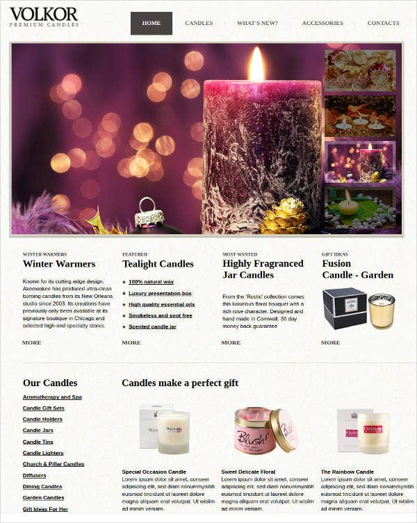 colorful gifts store website theme