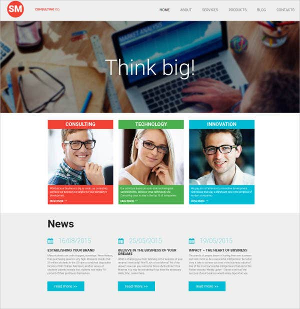 consulting company website theme