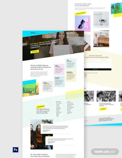 creative design website template