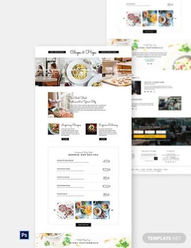 creative restaurant website template