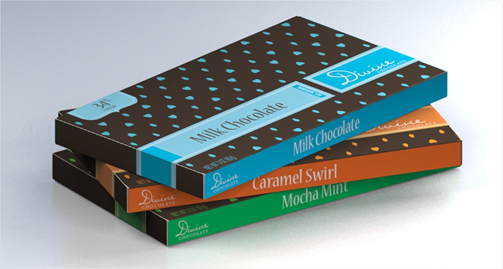 divine chocolate packaging
