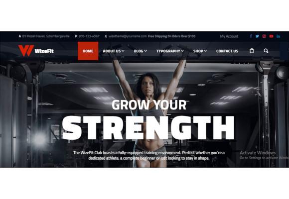 elementor gym fitness clubs wordpress theme