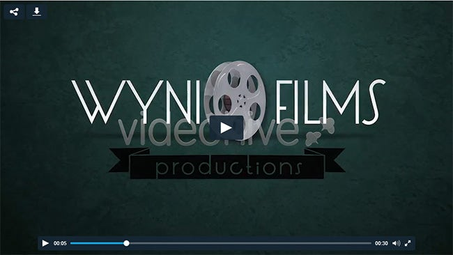 film reel logo intro