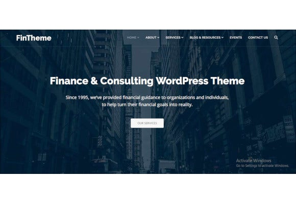 finance consultants wordpress theme