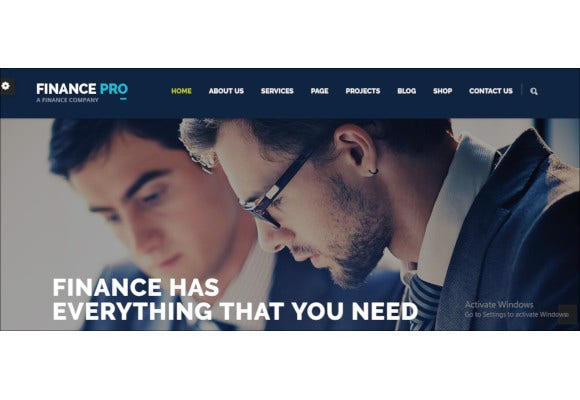 finance and business theme