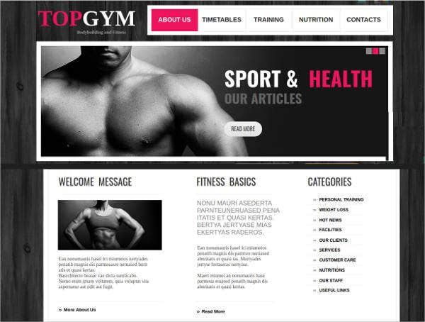 fitness-center-web-template
