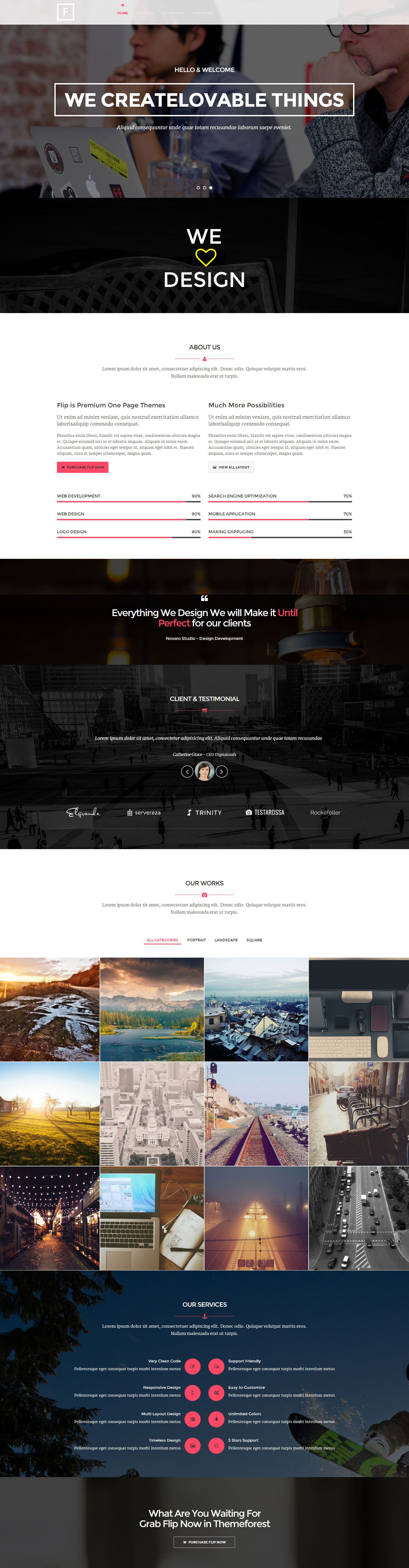 Flip - Flipping Page & One Page Wordpress Theme