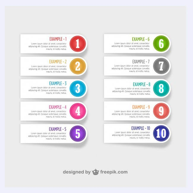 Free numberd labels design