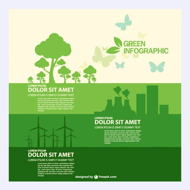 Free vector infographic ecology style