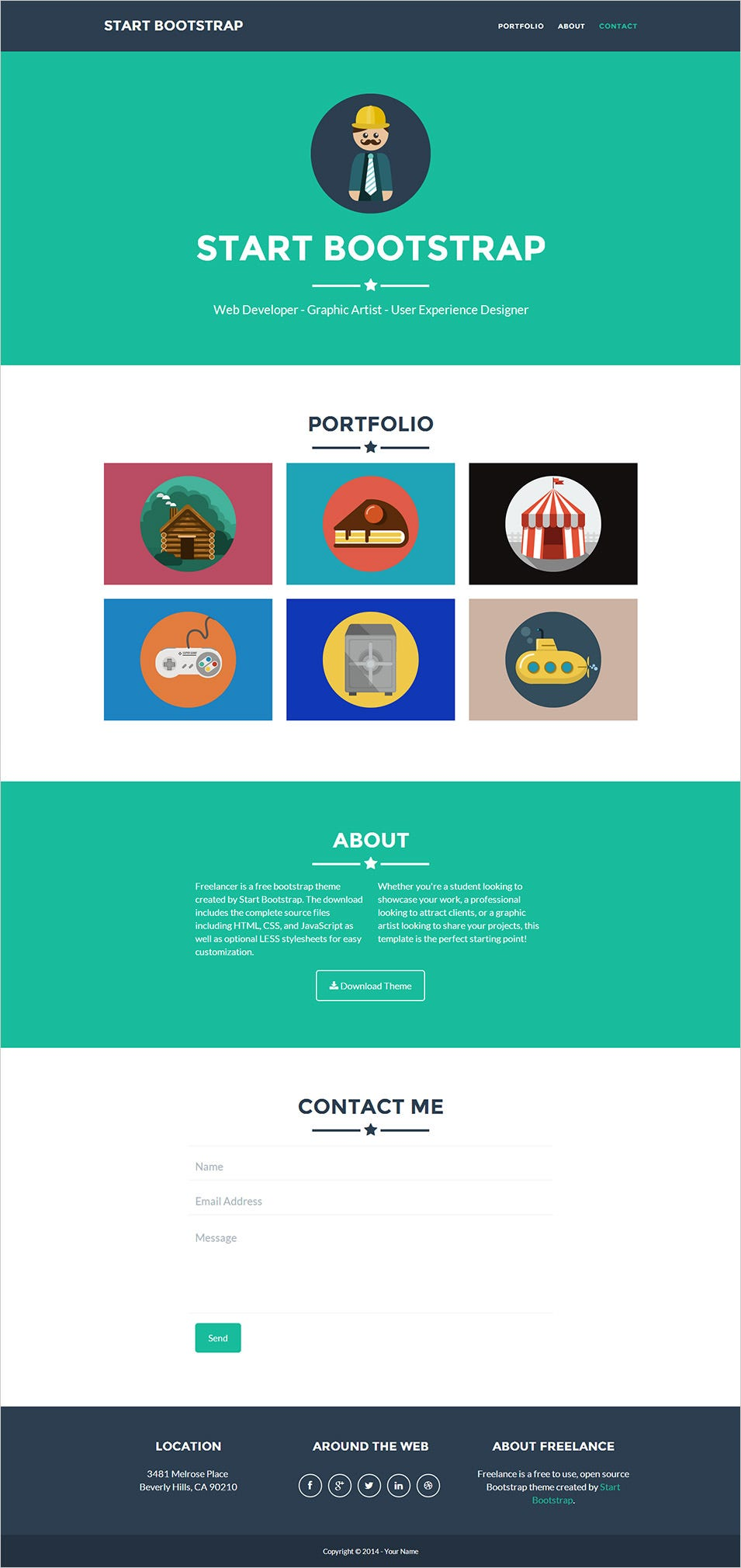 20 best premium one page website templates free