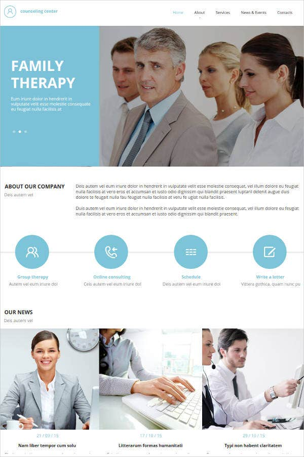 healthcare consulting website template