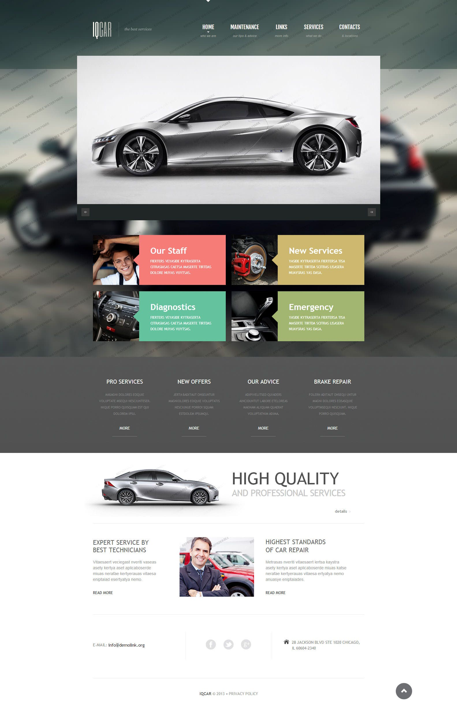 22+ Best Premium Car Website Templates | Free & Premium Templates