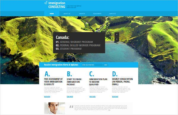 immigration consulting website theme