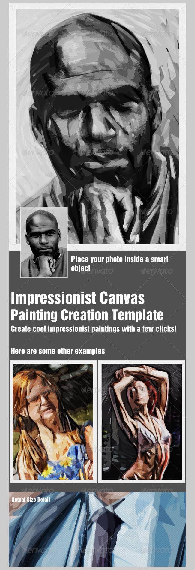 impressionist canvas