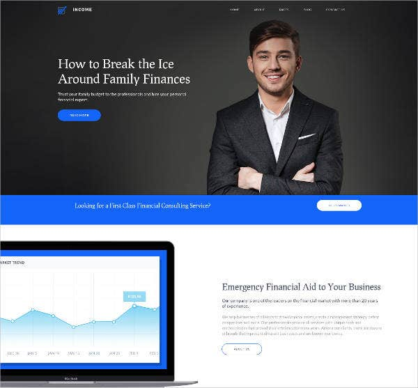 income premium financial business theme