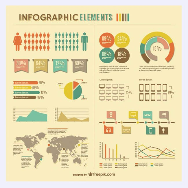 Infographic global statistics free design