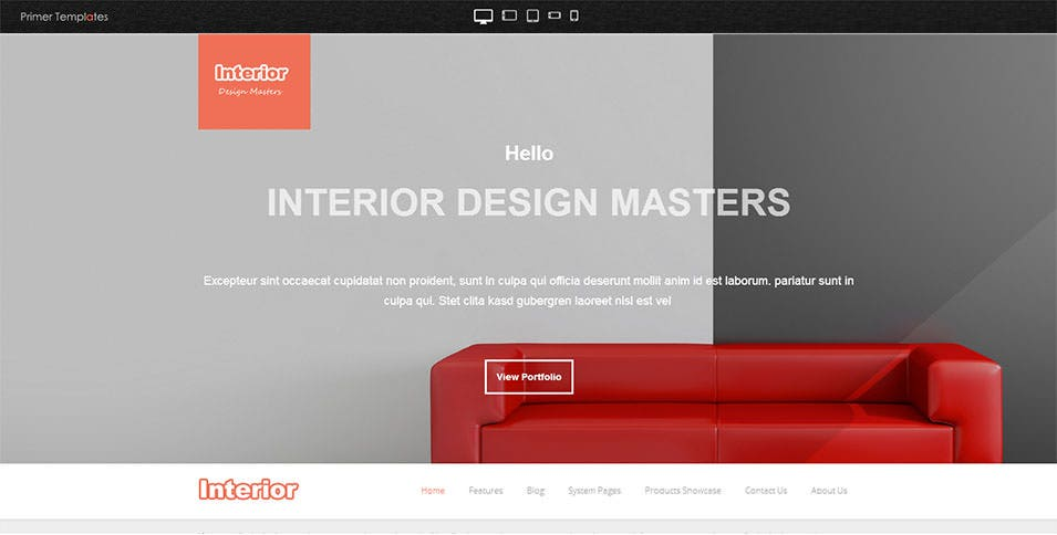 Interior Design Website Template Free Demo Download