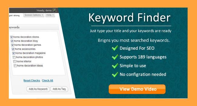 Keyword Finder for Wordpress