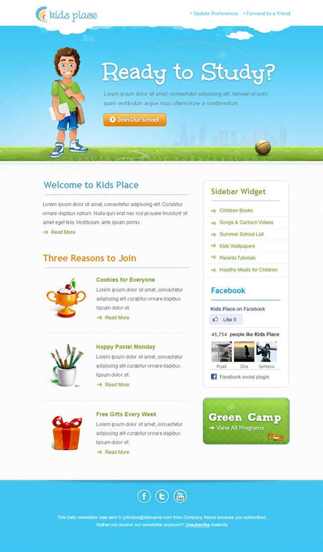 12 best free introduction business email templates free premium kids newsletter template cheaphphosting Image collections