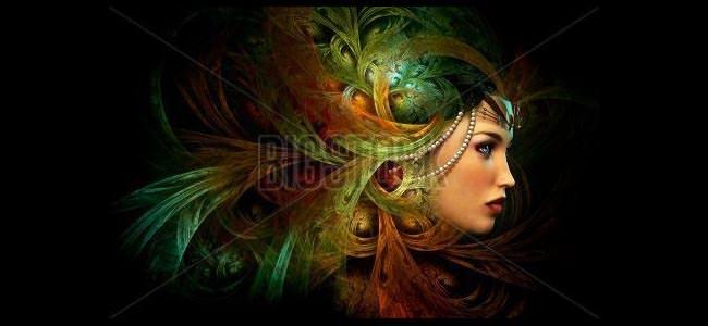 lady with an elegant headdress