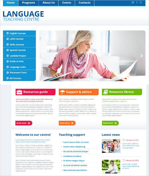 language-teaching-center-website-template