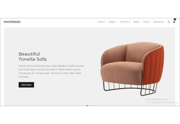 minimalist ecommerce website store theme