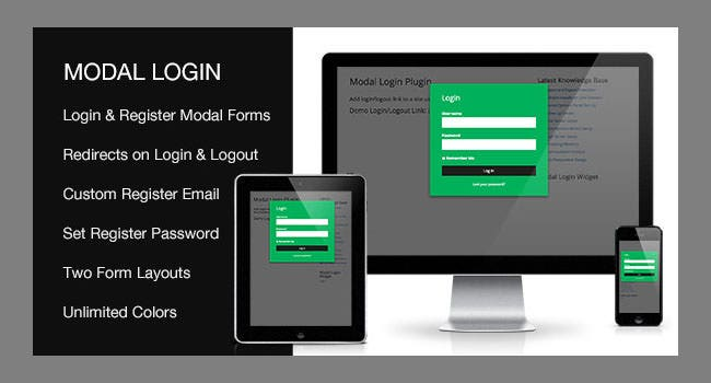 Modal Login Register Forgotten