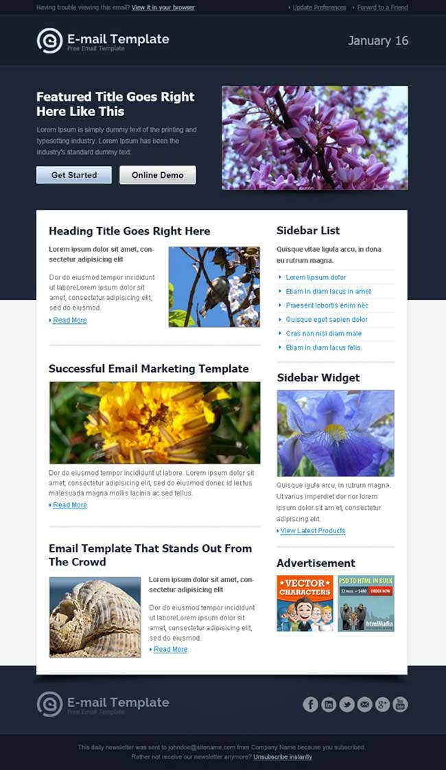 12 best free introduction business email templates free premium modern html email template accmission Gallery