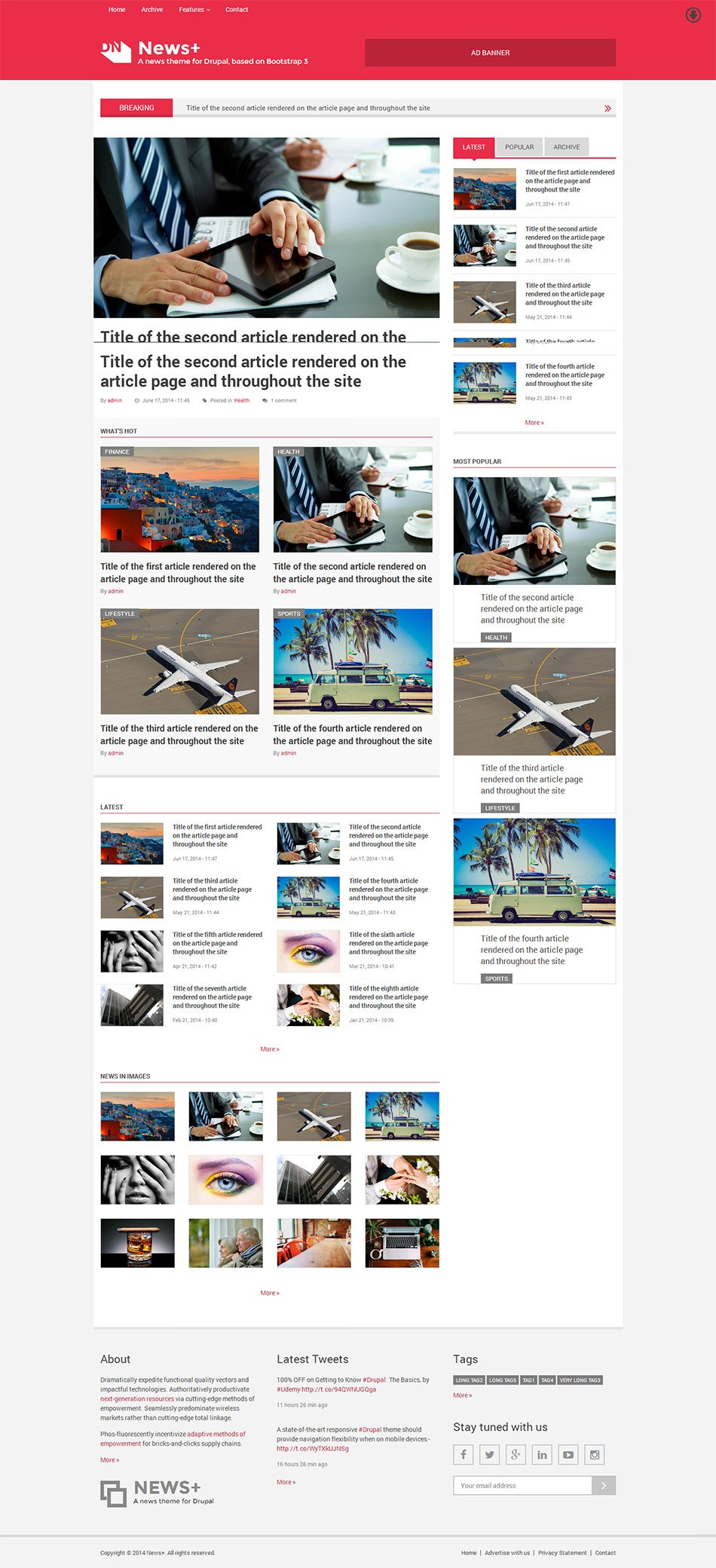 15+ Best Drupal Blog Templates & Themes | Free & Premium Templates