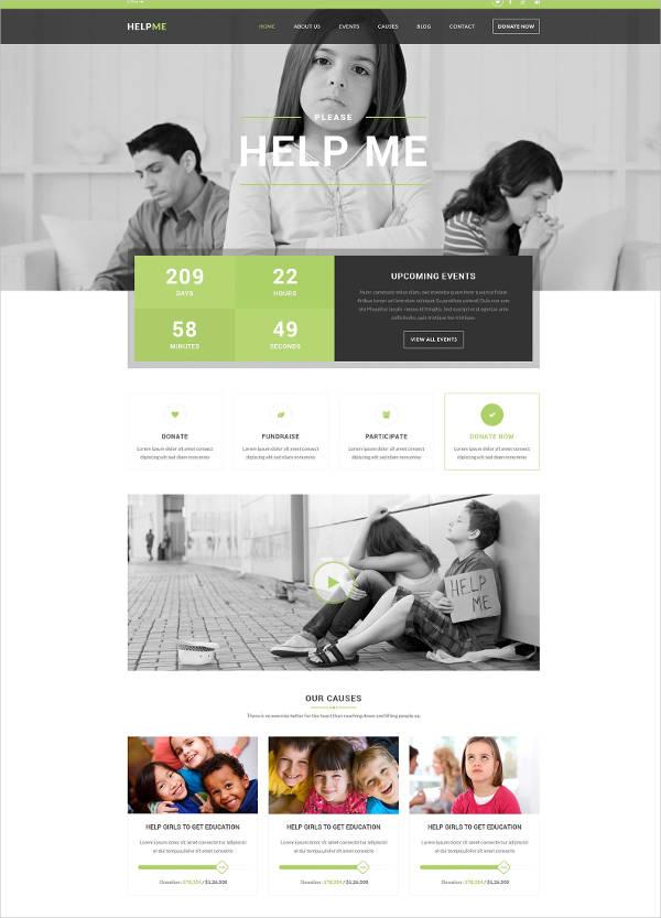 non profit charity template
