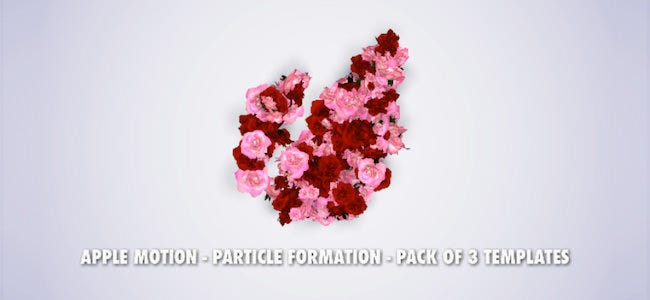 particle logo title formation